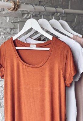 Basic tričko - Cihlové