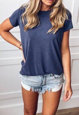 Basic tričko - Modré (modal)