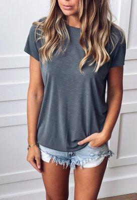 Basic tričko - Khaki (modal)