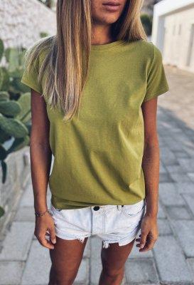 Bavlněné tričko - Zelenožluté
