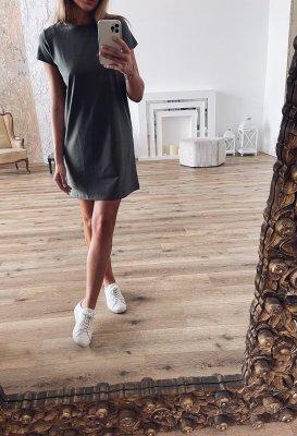 Basic šaty bavlněné - Khaki