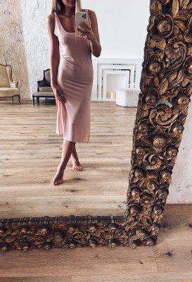 Letní šaty - Růžové s rozparky