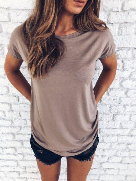 Basic tričko one size - Stone