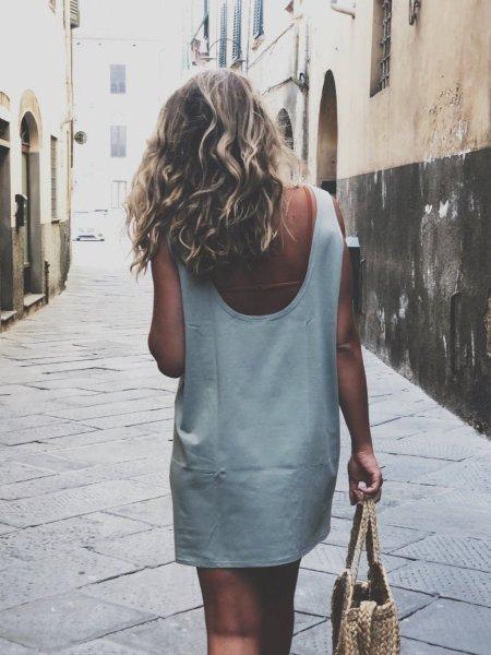 Šaty - Mentolové