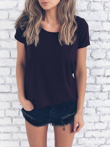 Basic tričko - Vínové