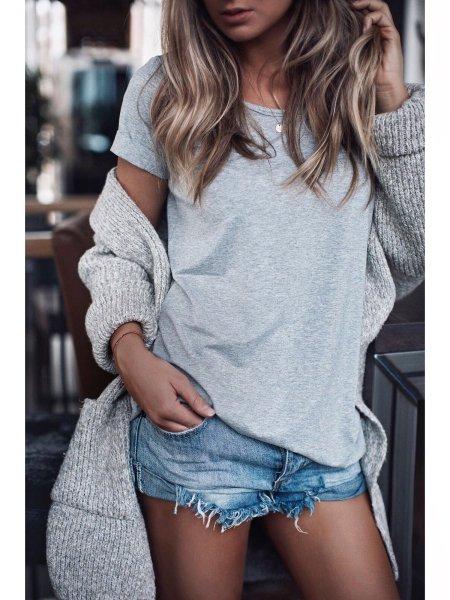Basic tričko - Šedé melé