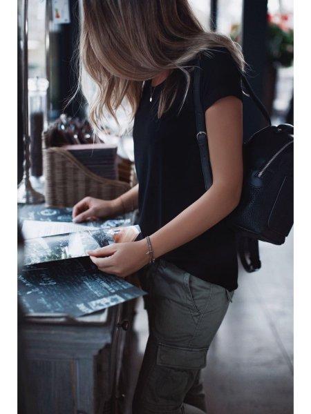 Basic tričko - Černé