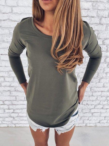 Tričko s dlouhým rukávem - Khaki