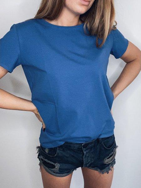 Bavlněné tričko - Modré