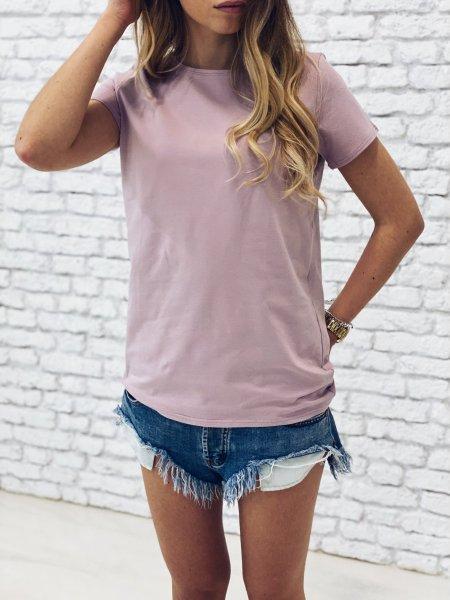 Bavlněné tričko - Růžové