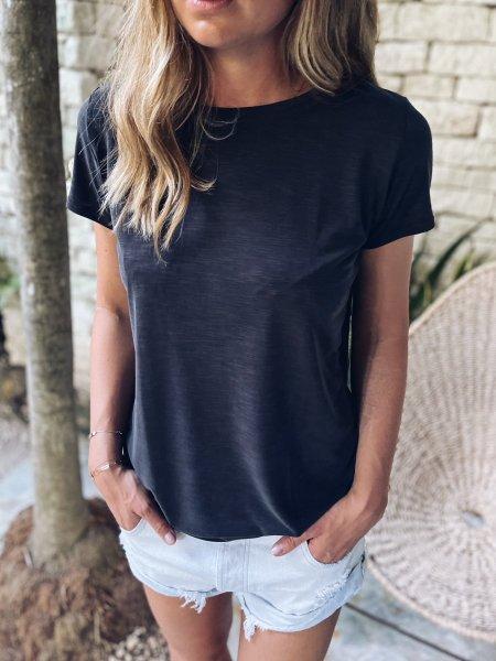 Basic tričko - Černošedé (modal)