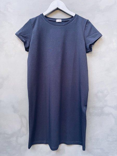 Basic šaty bavlněné - Tmavě šedé