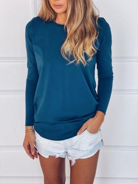 Tričko s dlouhým rukávem - Modré