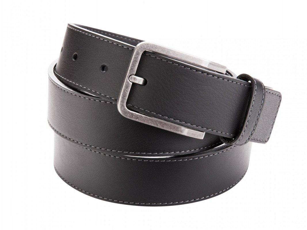 Pánský kožený pásek s prošíváním