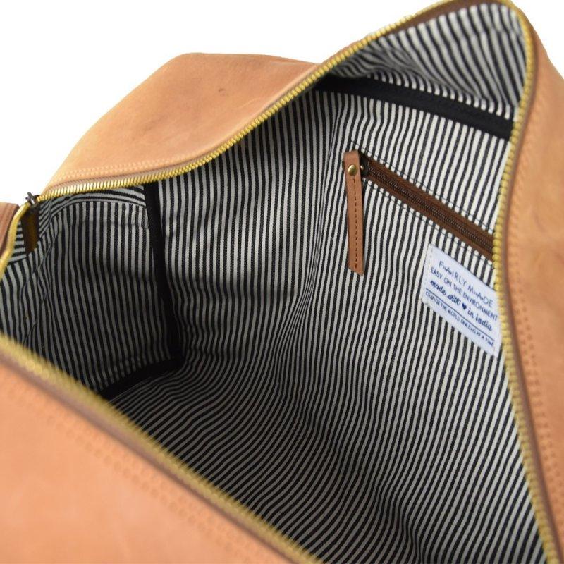 Cestovní kožená taška OTIS - světle hnědá ECO-camel