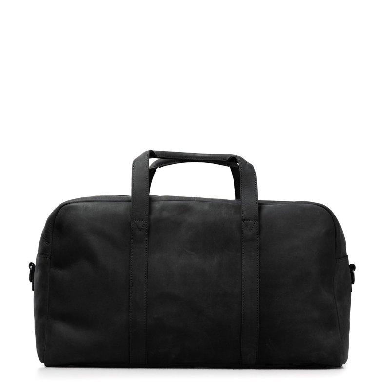 Weekender bag kožený černý