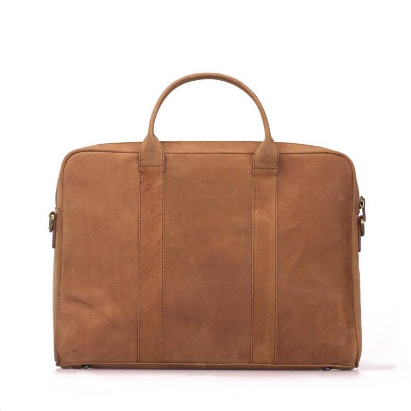 Kožená taška světle hnědá