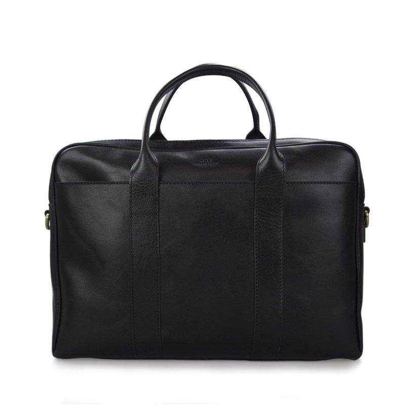 Pánská černá kožená taška na notebook