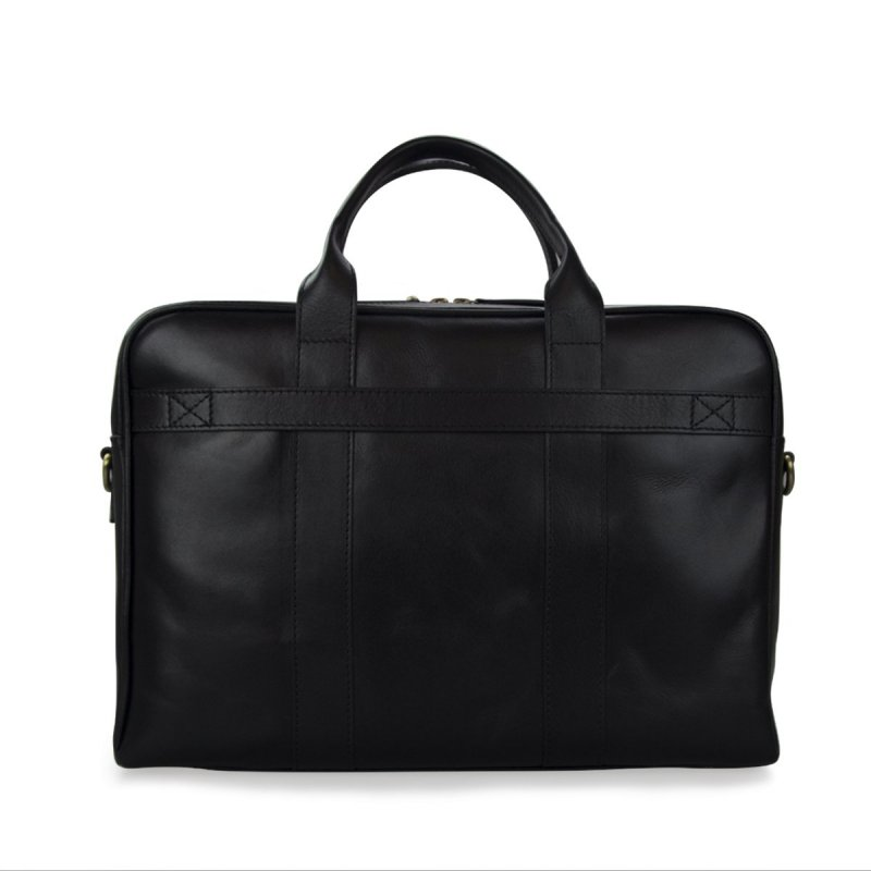 Černá kožená taška na notebook
