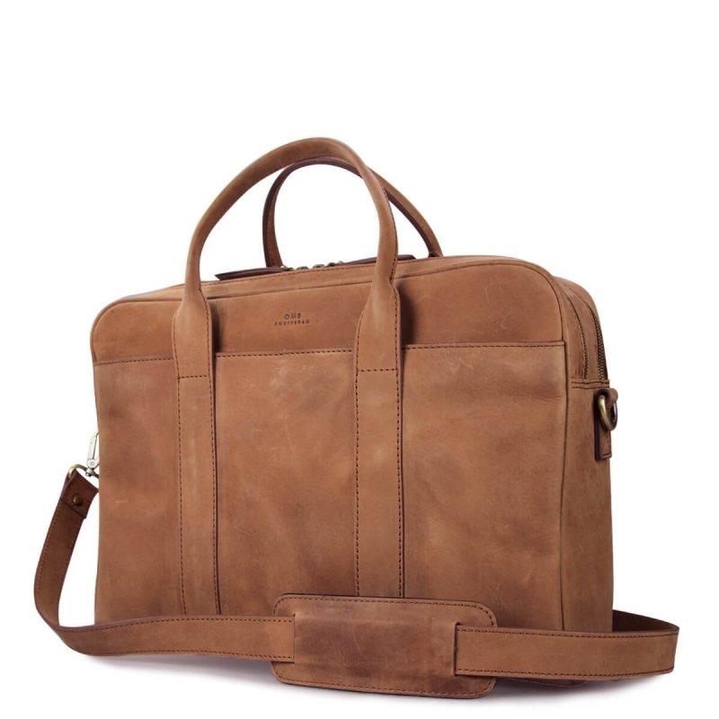 Taška na notebook - hnědá kůže