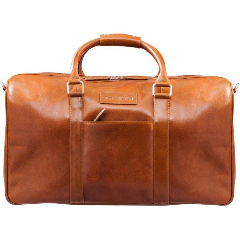 Hnědá kožená cestovní taška