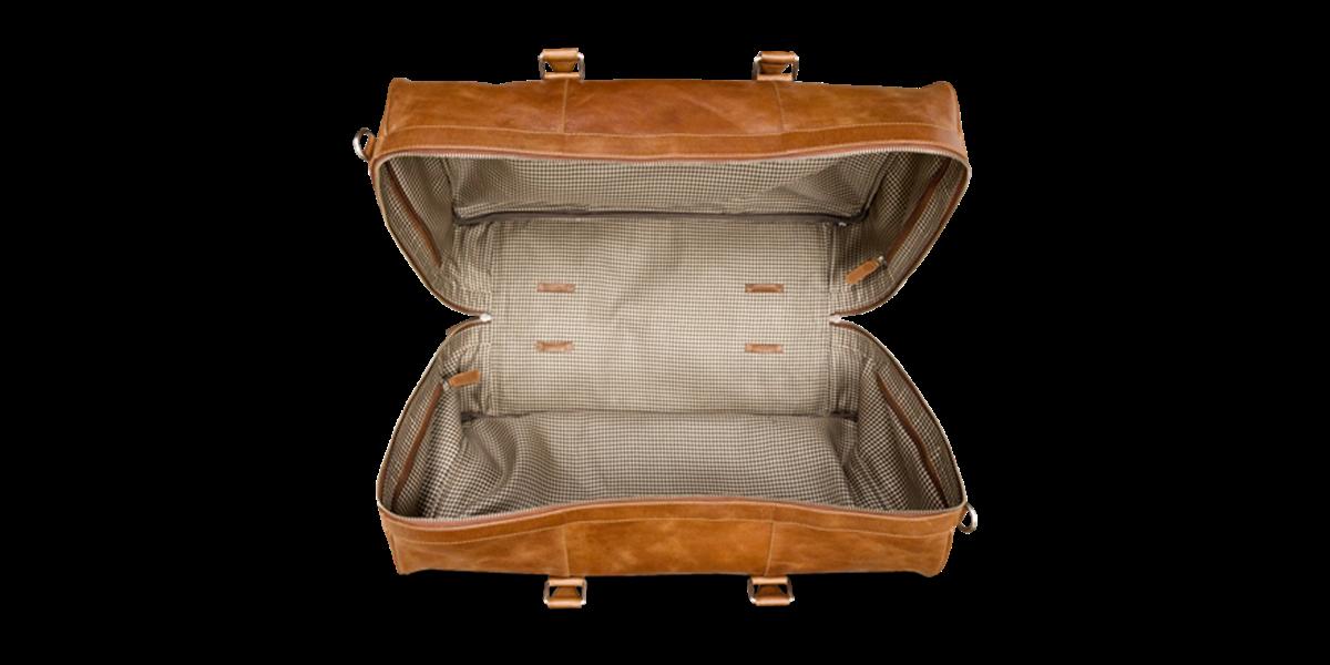 Cestovní kožená taška Aalborg - světle hnědá