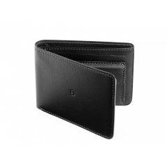 Pánská kožená peněženka s kapsou na mince - černá