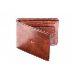 Pánská kožená peněženka s kapsou na mince - tmavě hnědá