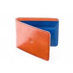 Pánská kožená peněženka s kapsou na mince - hnědomodrá