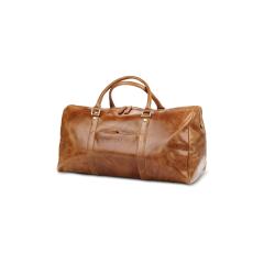 Cestovní kožená taška Kastrup 2 - světle hnědá