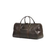Cestovní kožená taška Kastrup 2 - hnědočerná