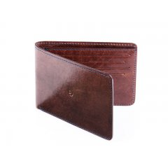 Pánská slim kožená peněženka - tmavě hnědá