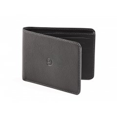 Pánská slim kožená peněženka - černá
