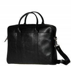 Business kožená taška The Harvey - černá ECO-black