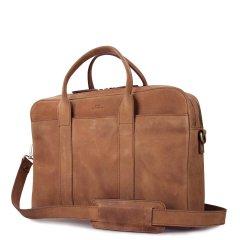 Business kožená taška The Harvey Maxi - světle hnědá ECO-camel