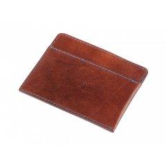 Pánská kožená peněženka na karty - tmavě hnědá