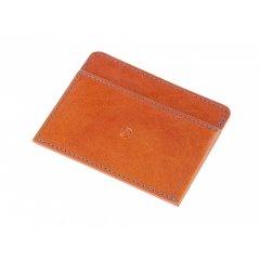 Pánská kožená peněženka na karty - světle hnědá