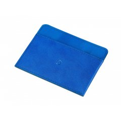 Kožená peněženka na karty - modrá