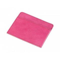 Kožená peněženka na karty - růžová