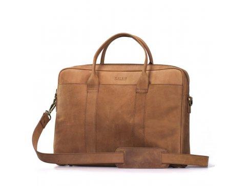 Pánská kožená taška světle hnědá