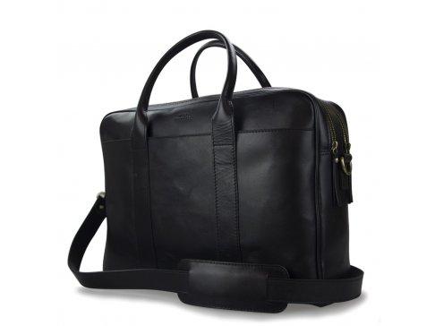 Velká kožená taška na notebook