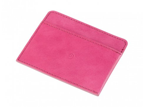 Kožená růžová peněženka