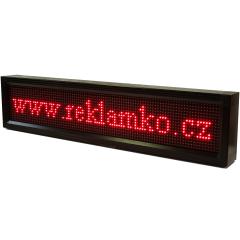 Led cedule vnitřní vnější P10 96x16cm bílá USB