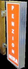 LED výstrč Oboustranné provedení, led osvětlení. Upevnění na zeď nebo sloup.