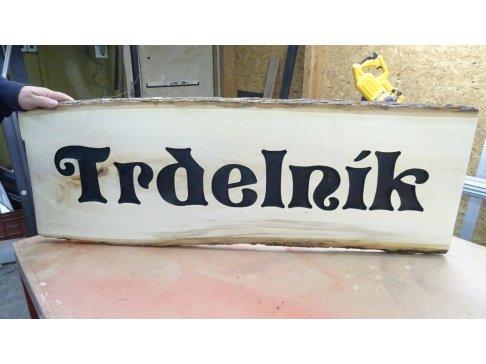 Dřevěný nápis 1,5m