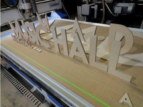 Dřevěné 3D logo