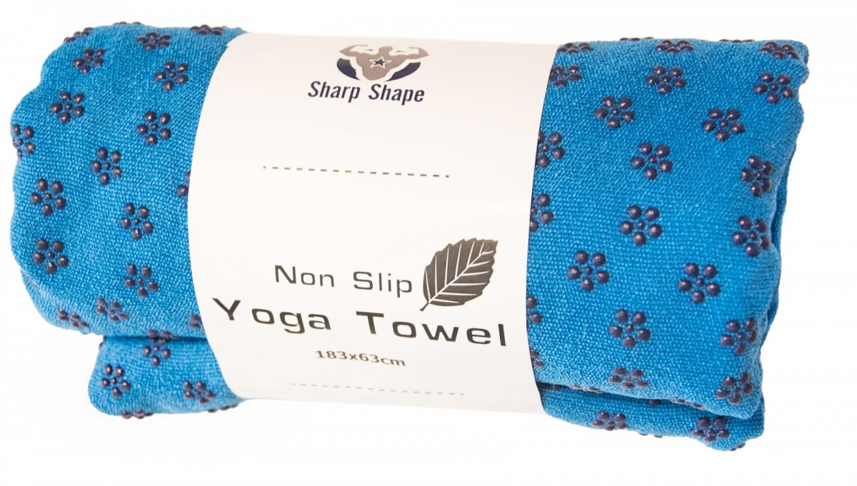Sharp Shape Non slip towel blue