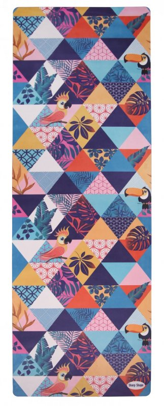 Sharp Shape Microfibre travel mat Tropical