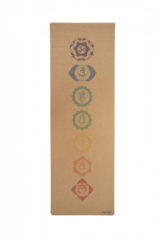 Sharp Shape Cork travel yoga mat Chakra