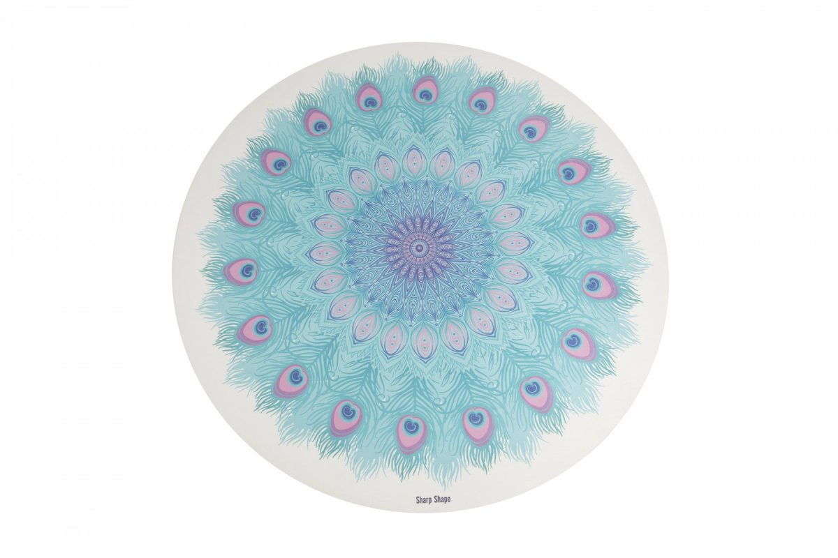 Sharp Shape Round yoga mat Peacock